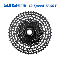 SUNSHINE MTB 12 Speed Cassette 11 50T UltraLight 399g CNC Freewheel Mountain Bike Bicycle Parts for XTR GX NX