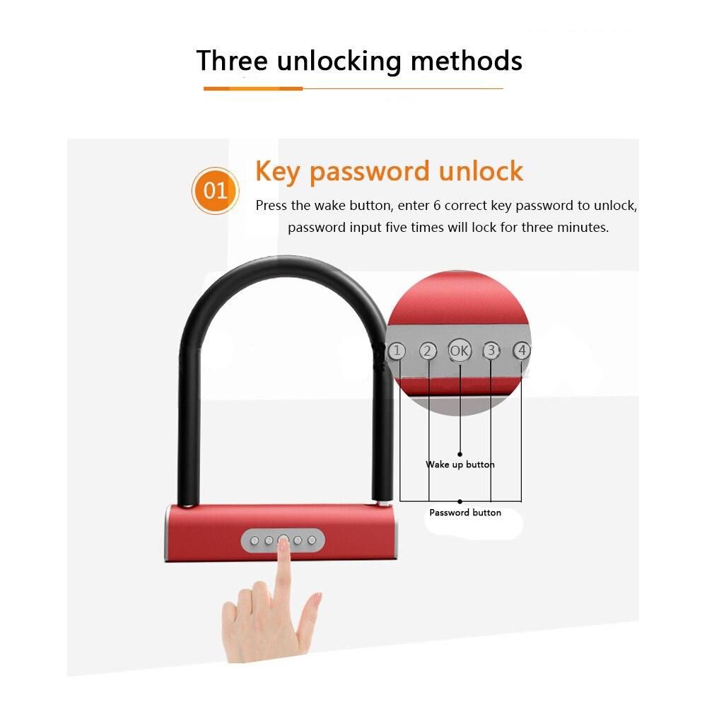 Купить с кэшбэком Smart Bluetooth Keyless U type Lock Waterproof APP Button Anti-Theft Password Door Luggage Padlock