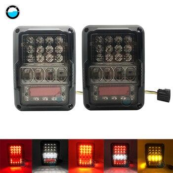 2019 New Super Bright Tail Light Reverse light Real Back Up Turn Signal Lamp LED Tail Lights For Jeep Wrangler 2007-2017 JK JKU