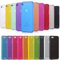 0.3mm ultra fina new limpar transparente magro matte caso de telefone para o iphone 7/7 Plus 6/SE 5S 5 Tampa Traseira Protetores de Tela grátis