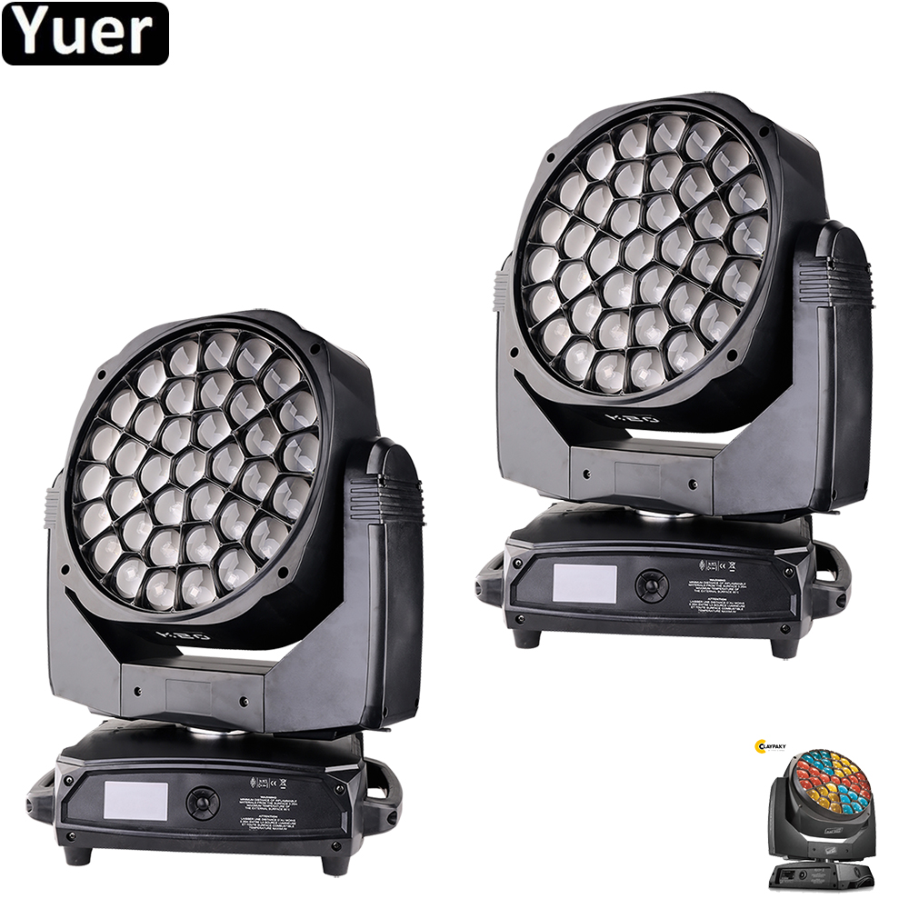 2Pcs/Lot Professional Music Stage Light K20 37x15W LED Big Bee Eye Moving Head Light Wash Beam Spectacular Graphic Effects Light