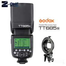 Godox tt685n d800 d700 d7100 d7000 d5200 d5000 d810 + 선물용 nikon 용 2.4g hss 1/8000 s i ttl gn60 무선 스피드 라이트 플래시