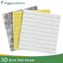 Waterproof Wallpaper Brick Decor Bedroom Self-Adhesive DIY 3D for Kids Kaguyahime