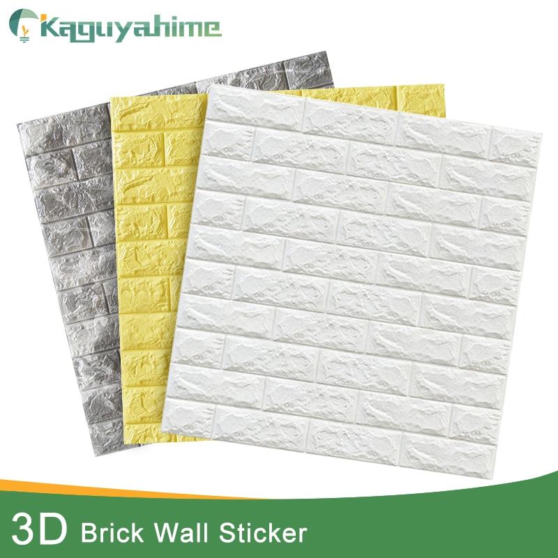 Kaguyahime 3D наклейки в виде кирпичной стены DIY Декор самоклеющиеся водоотталкивающие обои для детской комнаты спальни 3D стикер на стену кирпич