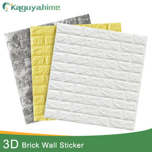 Waterproof Wallpaper Brick Decor Bedroom Self-Adhesive Kaguyahime 3d DIY for Kids