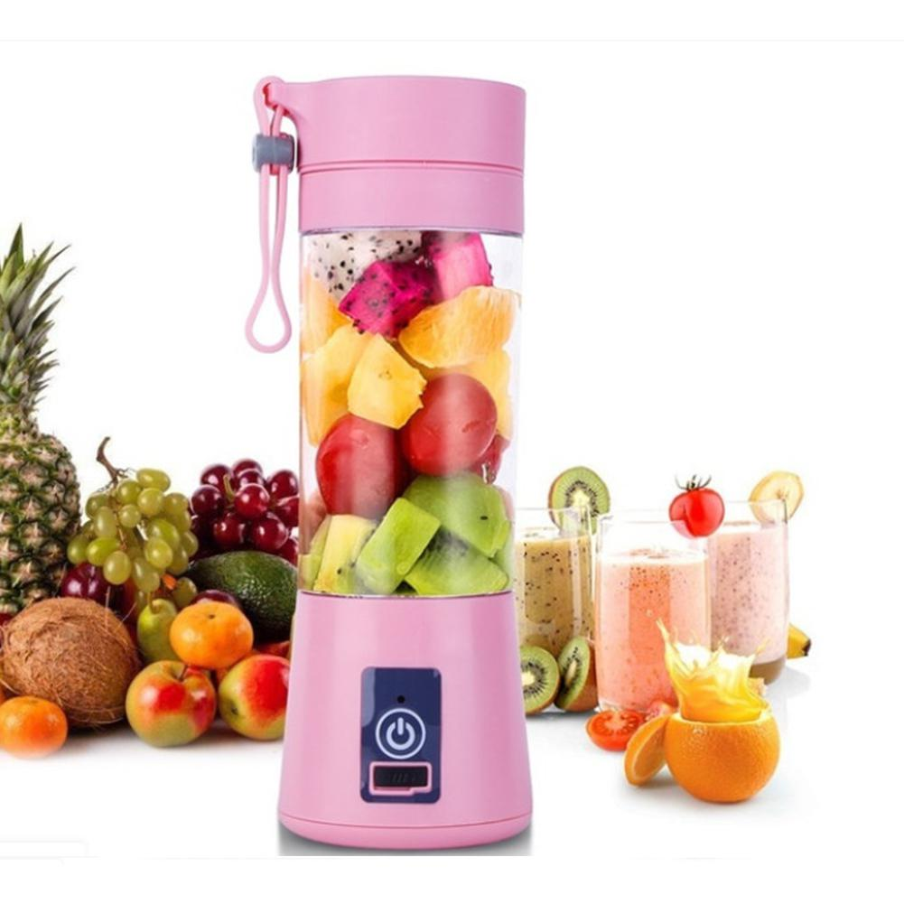 Portable Blender Mixing Cup 380ml Plastic Smoothie Shakes Blender Extractor Mode USB Rechargeable Automatic Juicer Cup Blend Jet