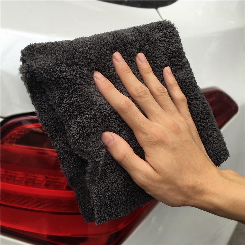 Lucullan Brand Super Glory Edgeless Plush Microfiber Towel 40x40cm 500GSM Cloths For Polishing Buffing Finishes Car Wash