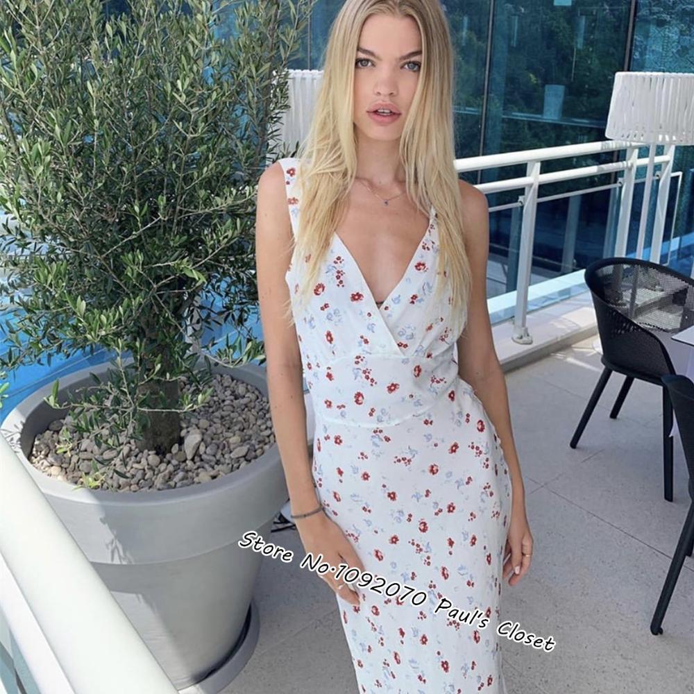 Женское платье Liv, длинное платье с цветочным принтом из 100% шелка