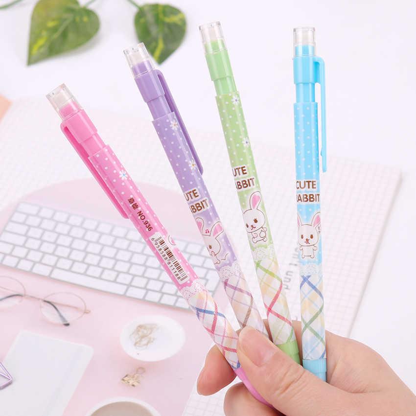 1PC 0.7mm Leuke Kawaii Plastic Tekening HB Vulpotlood Snor Automatische Pennen Koreaanse Stationery Office Supplies