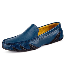 Clax Men Leather Flats Shoes 2017 Spring Summer Men's Boat Shoe Black Blue Casual Loafers Elegant Moccasin Leisure FootWear