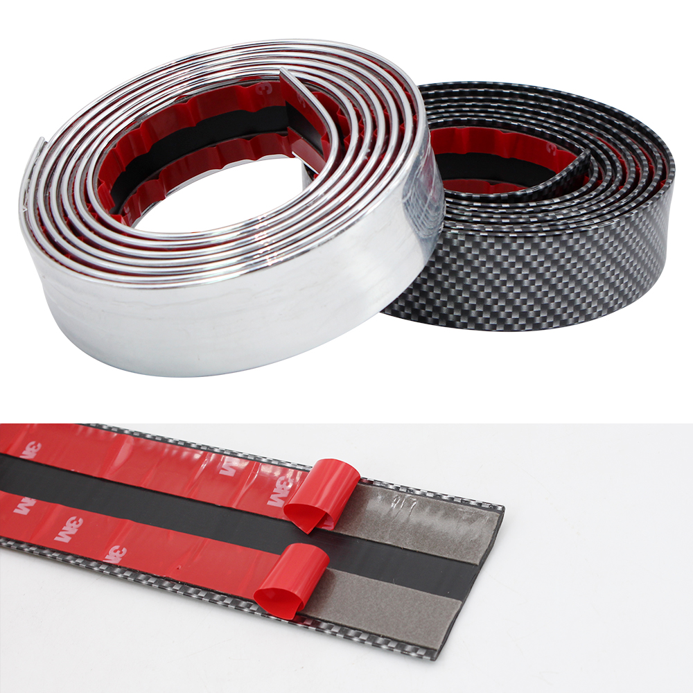 Image 3 - 2M Car Stickers Door Edge Guard Protector Carbon Fiber Film Rubber Moulding Trim Strip DIY 3 Colors For Car Styling Accessories-in Car Stickers from Automobiles & Motorcycles