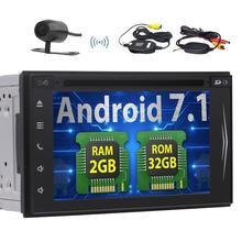 2din Car DVD Player Android 7.1 GPS Stereo Automotive Multimedia Bluetooth Radio Support USB SD WIFI 4G/3G touchscreen +Camera