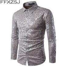 d9ca494e1c4da Yüksek Kalite MenShirt 2019 Yeni FashionSerpentine bez özellikleri Uzun  Kollu Gömlek Erkekler Gece Kulübü Rüzgar Rahat