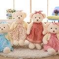 Alta Calidad de Lujo 65 cm Osito de peluche en Floral Dress Peluches Muñecas Del Oso Para Niños Amigos Amantes de la Princesa Niña Suave regalo