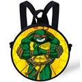 9-дюймовый Милый Ребенок Круглый Рюкзак Сумка Для Детей TMNT Teenage Mutant Ninja Turtles Рюкзак Для Детей Мальчиков Дошкольного Мешок