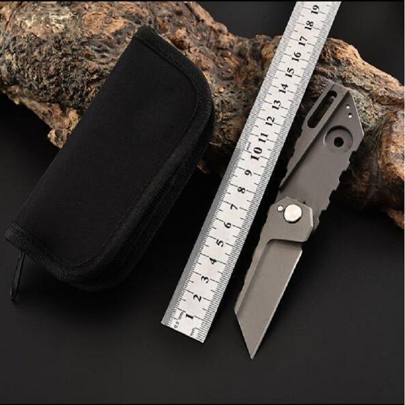 Mini titanium alloy folding knife multi-function outdoor knife camping outdoor folding knifeMini titanium alloy folding knife multi-function outdoor knife camping outdoor folding knife