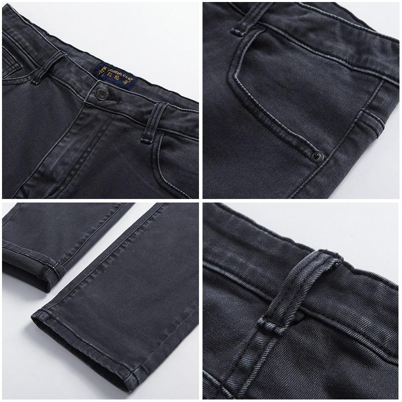 Pioneer Camp skinny jeans men brand clothing new dark grey feet pants male top quality stretch autumn denim trousers ANZ707025 Men Men's Bottoms Men's Clothings Men's Jeans cb5feb1b7314637725a2e7: Dark Grey
