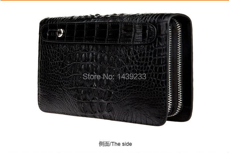 100% genuine crocodile leather skin purse and wallets fashion men business wallets crocodile leather men wallets 100
