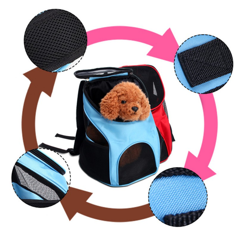 Portable Breathable Grid Bag Pet Bag Out Carrying Bag Breathable Mesh Carrier Backpack For Small And Medium Dogs #2