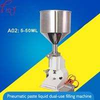A02 Desktop Pneumatische Paste Flüssige Füllung Maschine 50ml Food Grade Füllung Maschine Kosmetische Füll Maschine Ausrüstung Werkzeuge 1PC