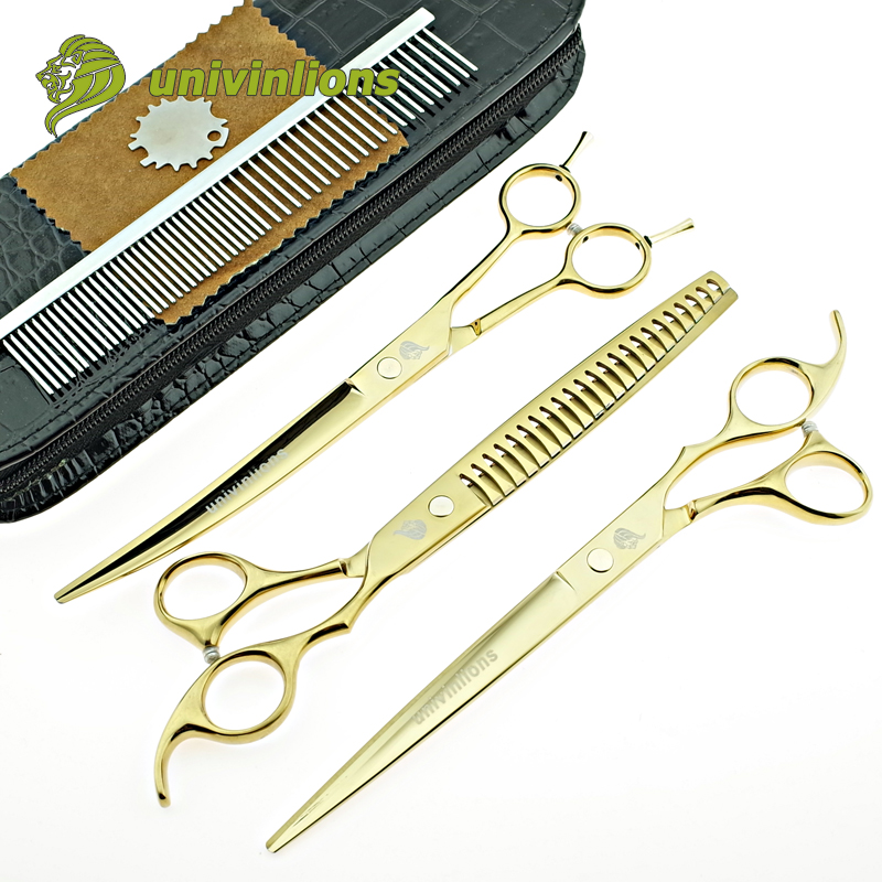 8 quot set curved groomer scissors pet shears dog grooming scissors cutting dog cat animal hair scissors curved dog hair clippers in Hair Scissors from Beauty amp Health