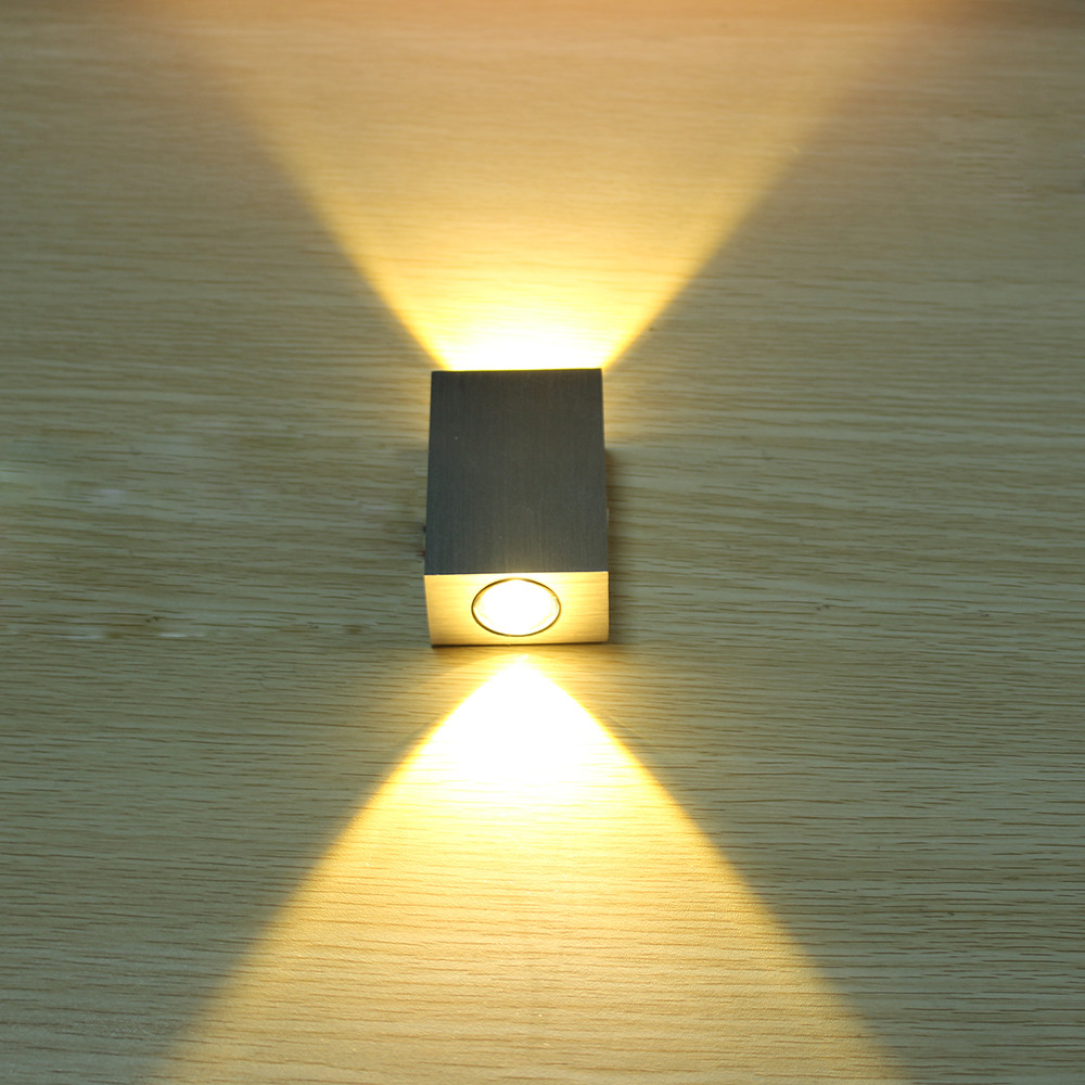 2W led wall lamp square led spot light aluminm modern home ...