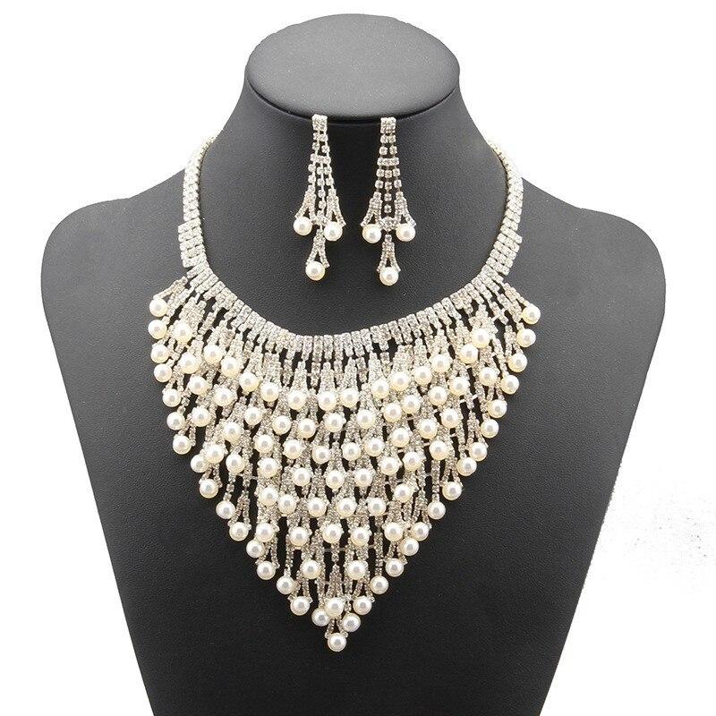 2018 offre spéciale collier en cristal autrichien boucles d'oreilles ensembles De bijoux De mariage pour les femmes accessoire De fête Pendientes collier De Juego # N064
