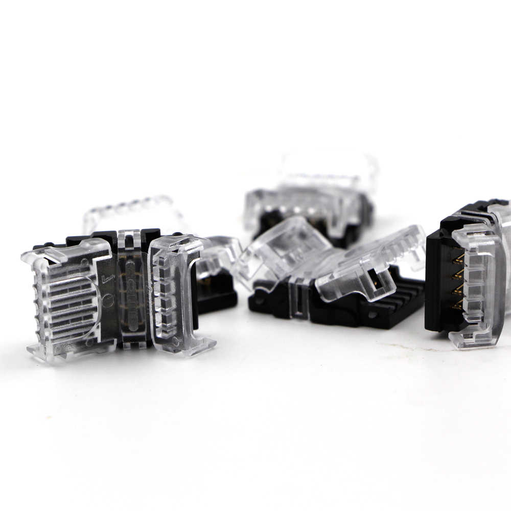 5 sztuk uniwersalny kompaktowy przewód złącze do przewodów 2 4 5 pinowe dla jednego koloru rgb rgbw 5050 5630 taśmy LED