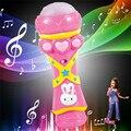 Modernos Meninas Meninos Sem Fio LED Microfone de Karaokê Cantando Jan13 Kid Engraçado Brinquedo Da Música Para Crianças dos miúdos o Transporte Da Gota