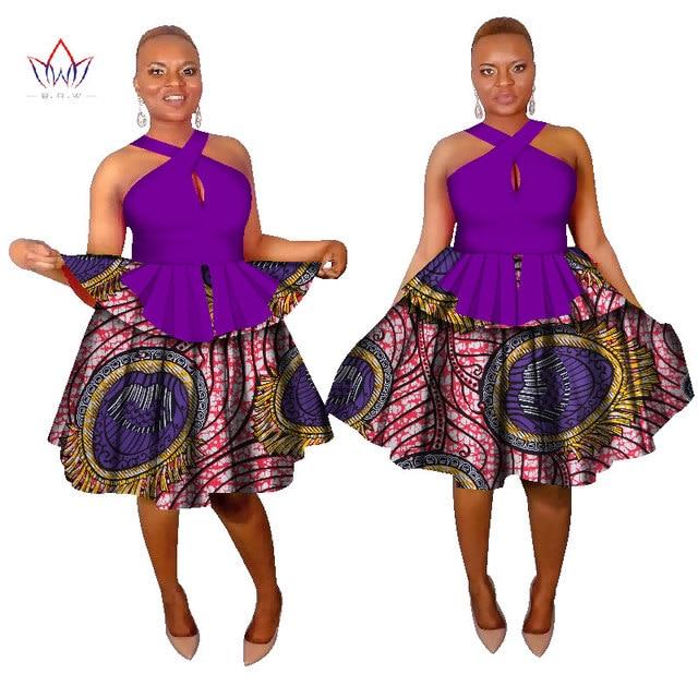 2017 Fashion African Print Dress For Women Bazin Riche African Dress