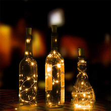 10leds/20leds Wine Bottle Lights Cork Battery Powered Garland DIY Christmas String For Party Halloween Wedding Decoracion