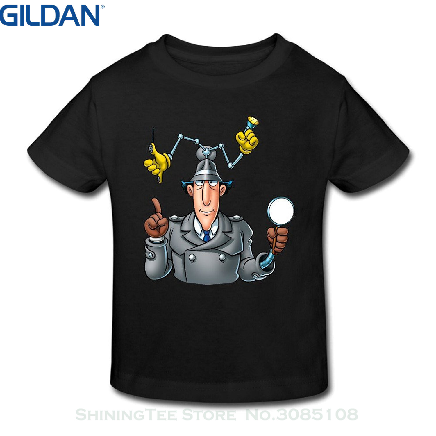 GILDAN T Shirt Fashion Custom Summer Inspector Gadget Cgi-animated Tv Series Short Sleeve Toddler Tee Toddler Tshirts