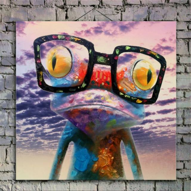 100 Hand Painted Cartoon Oil Painting On Canvas Abstract Animal Wall Art For Home Decoration Happy Frog Pictures DM91801184