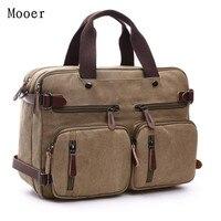 Multi Function Messenger Bag Men Shoulder Bag Large Capacity Travel Canvas Men S Bag