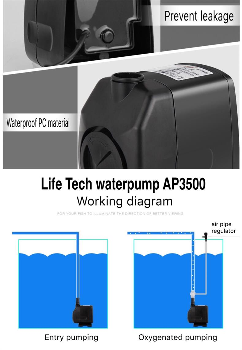Pumps (water) Pet Supplies Aspiring 9aquarium Amphibious Pump Multi-functional Submersible Pump Fish Tank Wave Pump