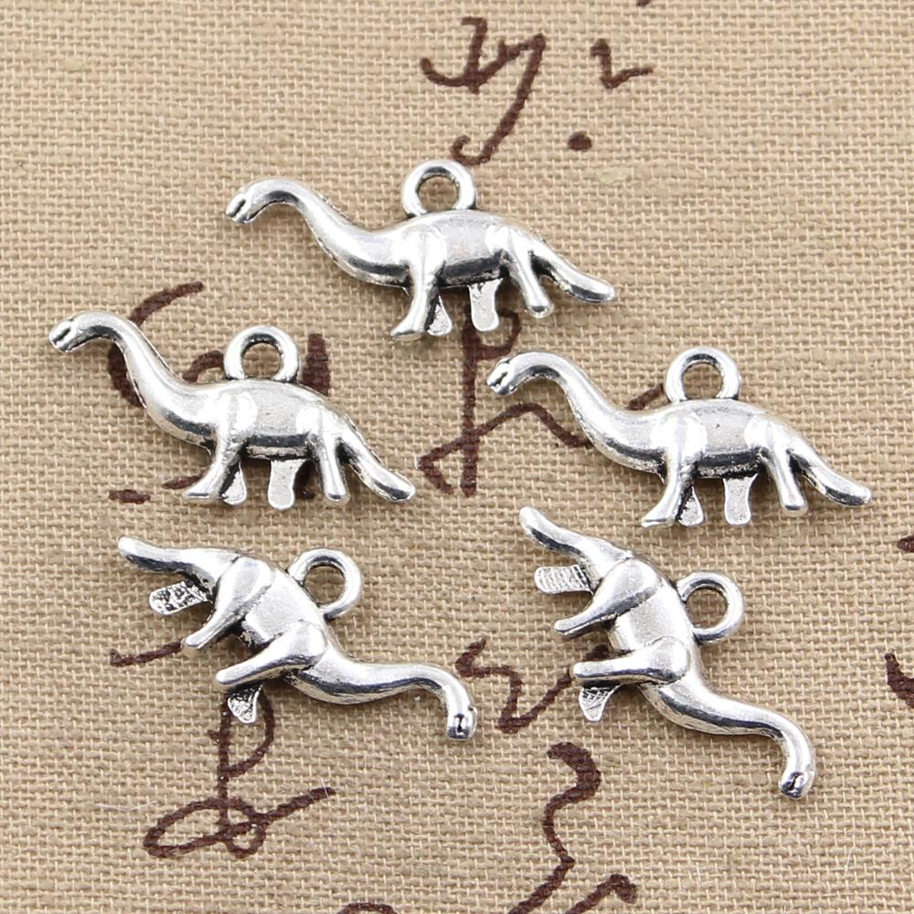 8pcs Charms Dinosaur Brontosaurus 27x12mm Antique Making Pendant fit,Vintage Tibetan Bronze Silver color,DIY Handmade Jewelry