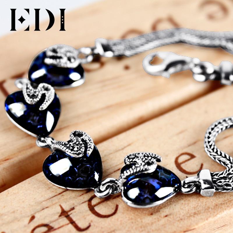 EDI Kvinnor 925 Thai Sterling Silver Ankel Armband För Kvinnor - Fina smycken - Foto 3