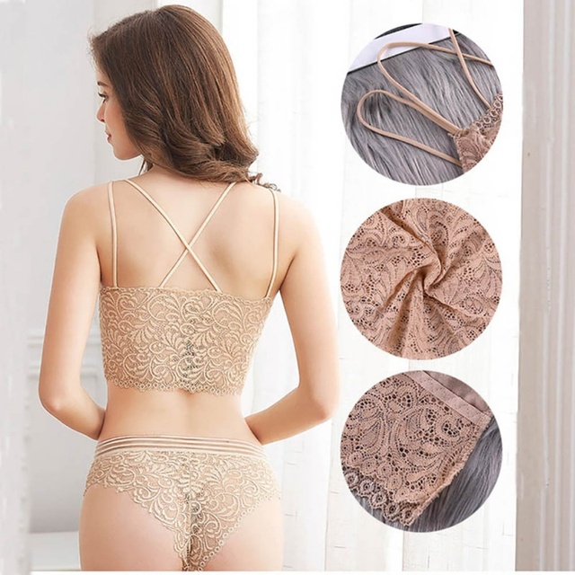 Transparent Lace Bra and Panty Set Women Sexy Lingerie Bra Set Intimates Ladies Underwear Set 5