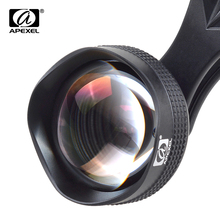 Best price APEXEL camera lens in mobile phone lens kits 85mm telescope Lens professional HD lens kit for iPhone Xiaomi redmi Samsung galaxy