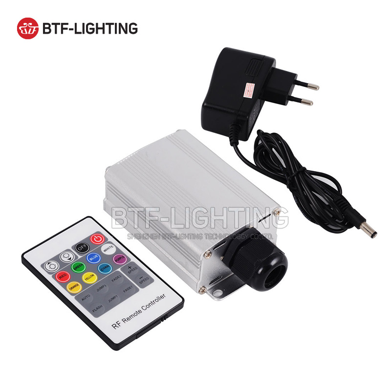 7W RGB LED Fiber Optic Engine Driver with 20key RF Remote controller for all kinds fiber optics sky stars rgb 45w led fiber optic engine 20key rf remote controller can be fixed in 8 colors six color change mode with flicker effect