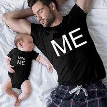 Gourd Doll/новые Семейные комплекты футболка для папы и ребенка с надписью «MINI ME» семейный образ, CTRL+ C CTRL+ V, топы с короткими рукавами