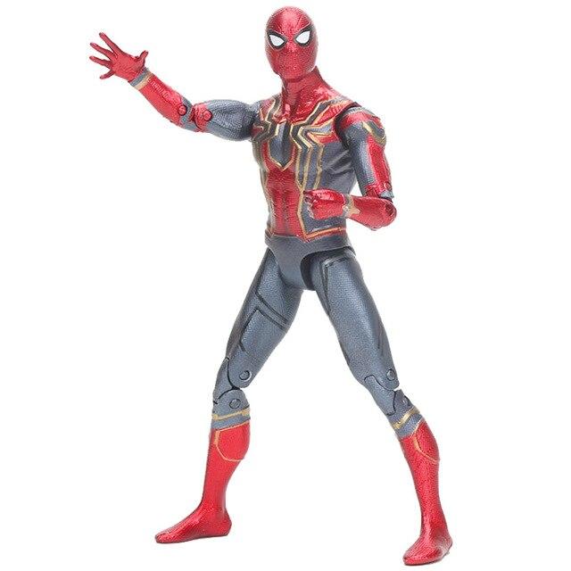 Endgame Infinito Guerra 15 centímetros Marvel the avengers Ferro Homem Aranha Amazing spiderman movable Action Figure toy modelo para crianças presente