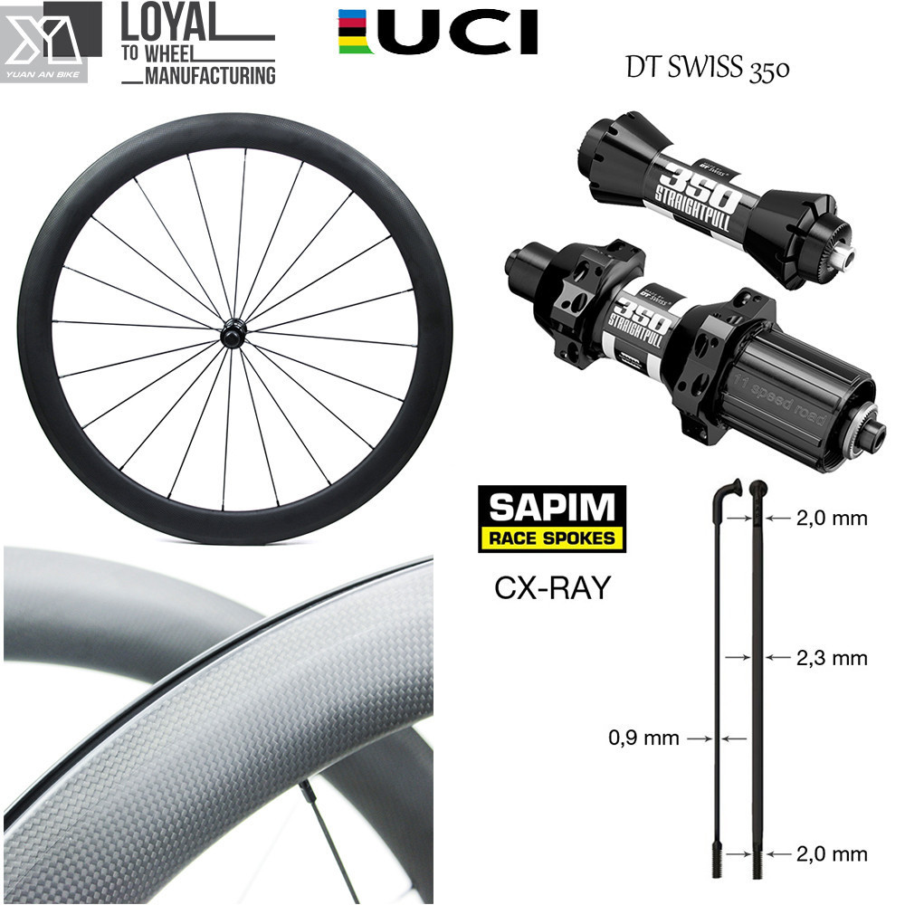 цена на DT Swiss 350S Hub Sapim CX-Ray Spoke Carbon Road Bike Wheel 700c Wheelset 38mm 50mm 60mm 88mm Clincher Tubular Tubless