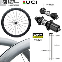 DT Swiss 350S Hub Sapim CX Ray Spoke Carbon Road Bike Wheel 700c Wheelset 38mm 50mm 60mm 88mm Clincher Tubular Tubless