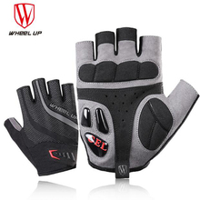 WHEEL UP Half Finger Cycling GEL Gloves Breathable Anti-shock Sports Gloves MTB Mountain Cycling Bike Bicycle Glove rockbros cycling bike bicycle gloves half finger gel anti shock breathable elastic bicycle gloves mtb motorcycle sports gloves