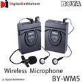 BOYA BY-WM5 Pro Беспроводной Петличный Микрофон Микрофон Система для Цифоровой Зеркальный Фотоаппарат Canon Nikon Sony