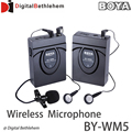 BOYA BY-WM5 Pro Wireless Lavalier Microphone Microphone System for Canon Nikon Sony DSLR Camera