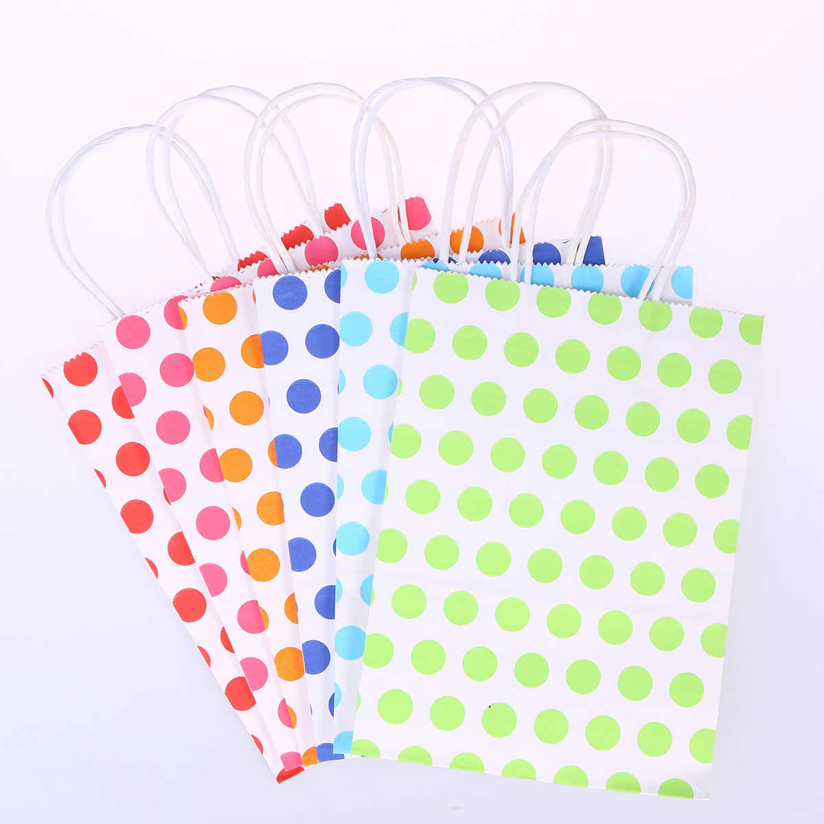 24 cái Túi Giấy Polka Dot Pattern Wedding Party Trang Trí Thủ Công Mỹ Nghệ Thực Phẩm Túi Quà Tặng Túi Kẹo Snack Cookie Túi Ủng Hộ Đảng
