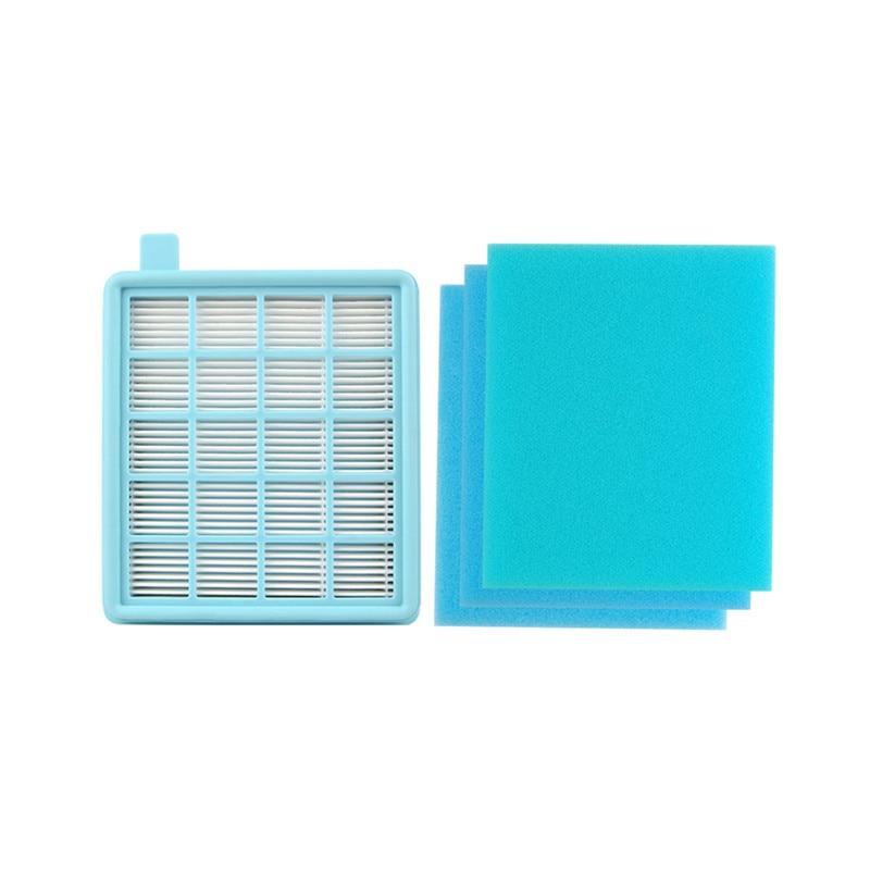 1* Main HEPA Filter + 3* Sponge Filter For Philips Vacuum Cleaner FC8631 FC8671 Fc9532 FC8472 F8474 FC8471 FC8473 FC8476 Fc8634
