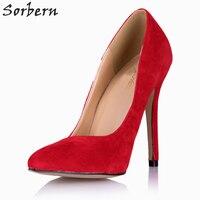 Sorbern Mature Red Woman 12Cm High Heel Shoe Ladies Heel Shoes Runway Women Shoes With Heels